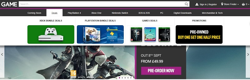 GAME.co.uk Vouchers